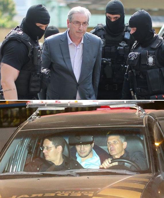 Eduardo Cunha e Lúcio Funaro presos pela Polícia Federal