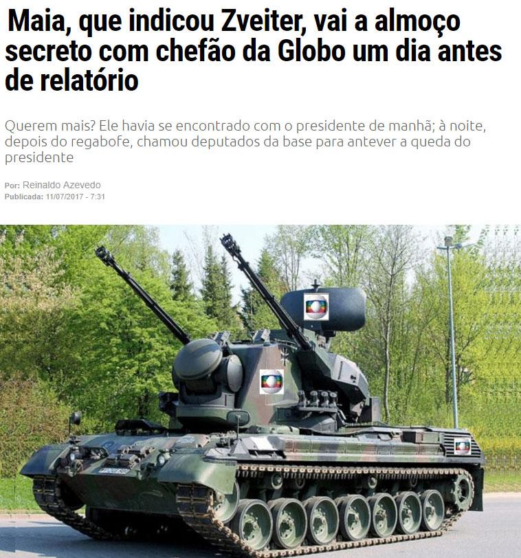 Reprodução do blog de Reinaldo Azevedo