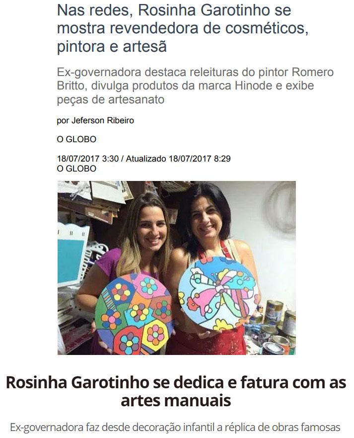 Reproduções do Globo e de O Dia
