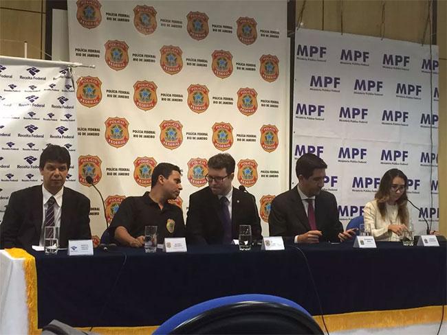 Procuradores e delegado da PF da força-tarefa da Lava Jato no Rio