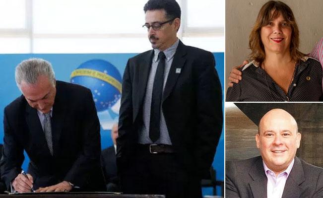 Temer assina termo de posse de Sérgio Sá Leitão; ao lado Cláudia Cabral, irmão de Sérgio Cabral e Ricardo Cota, ex-secretário de Comunicação e sócio do ex-governador