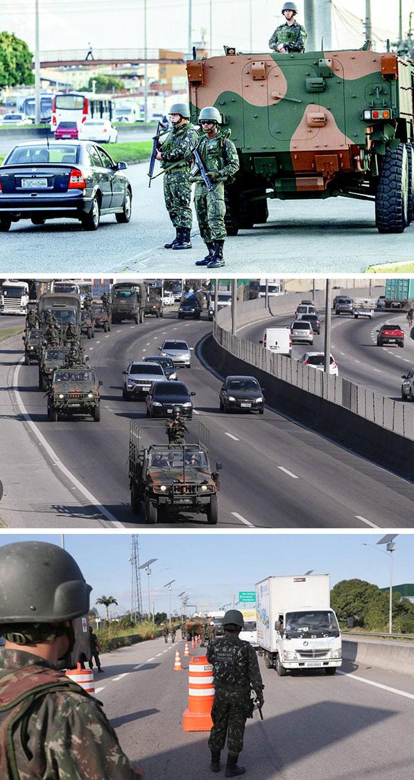 Exército nas ruas do Rio