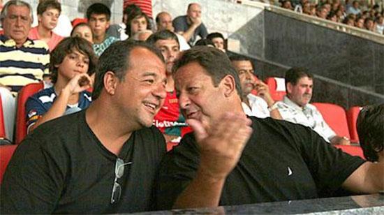 Sérgio Cabral com Luiz Zveiter