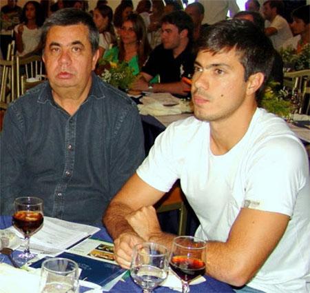 Jorge Picciani com o filho Felipe, que toca os negócios da família