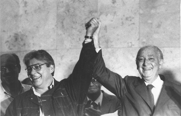 Mário Covas e Franco Montoro