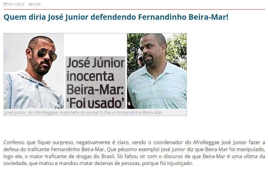 Reprodução do Blog do Garotinho (2013)