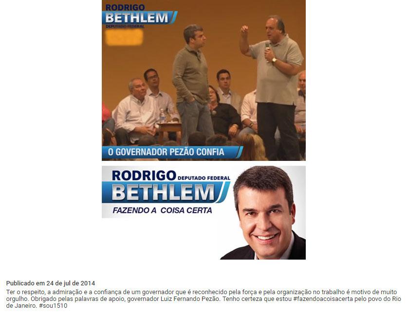 Postagens do site de campanha de Rodrigo Bethlem (2014)