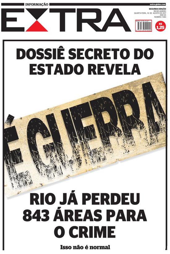 Reprodução da capa do Extra