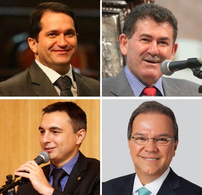 No sentido horário: Edson Albertassi (no alto à esquerda), Paulo Melo, Milton Rangel e Pedro Fernandes