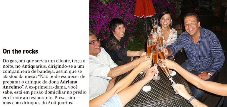 Nota da coluna Gente Boa, do Globo