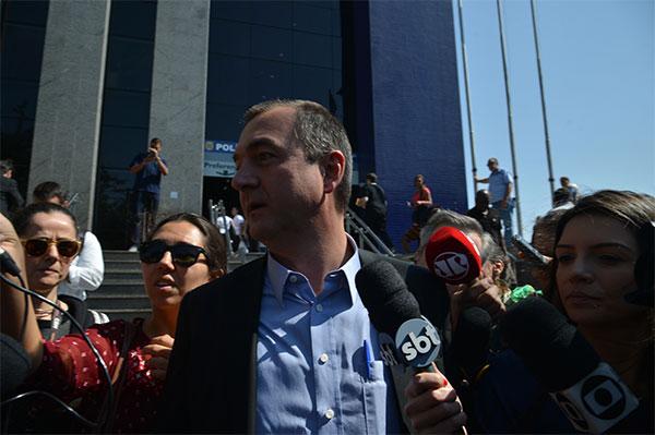 Joesley Batista na saída de depoimento à Polícia Federal (SP)