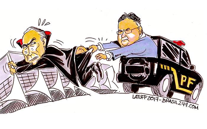 Charge de Carlos Latuff para Brasil 247