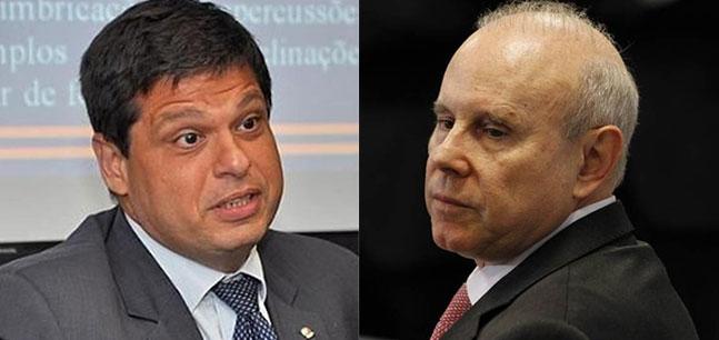 O ex-procurador Marcelo Miller e o ex-ministro Guido Mantega