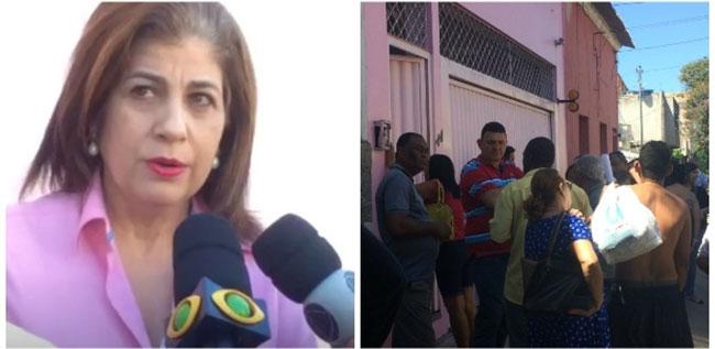 Rosinha dá entrevista na porta de casa em Campos