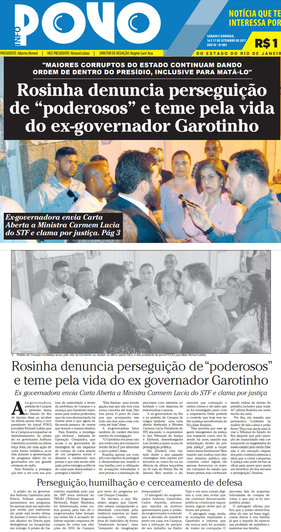 Reprodução do jornal O Povo
