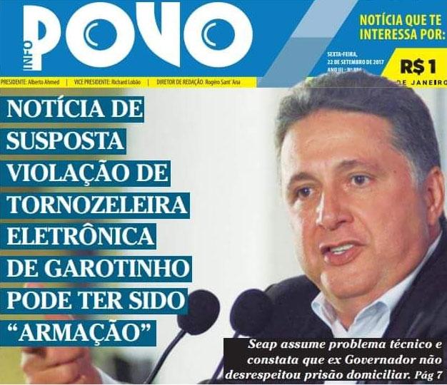 Capa do jornal O Povo