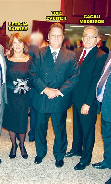 Leticia Sardes, Luiz Zveiter e Cacau Medeiros