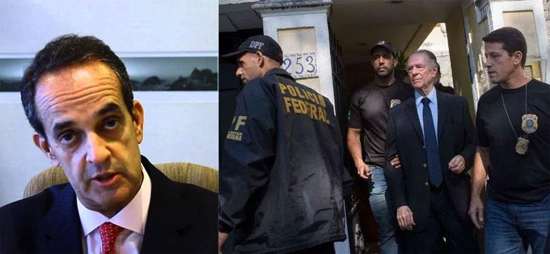 Advogado Sérgio Mazzillo; ao lado Carlos Arthur Nuzman no dia da prisão
