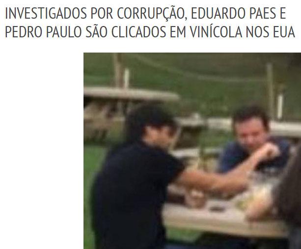 Reprodução do Extra (a foto da matéria é de um turista brasileiro)