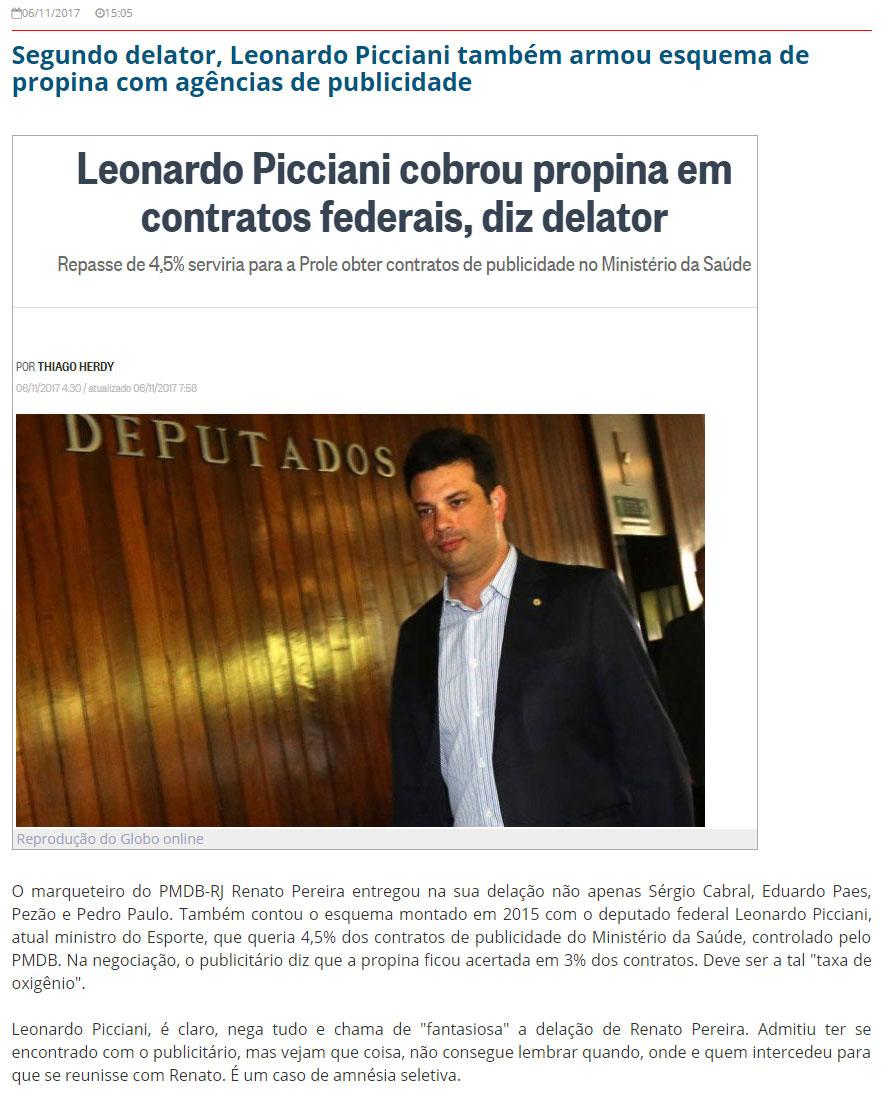 Reprodução do Blog do Garotinho