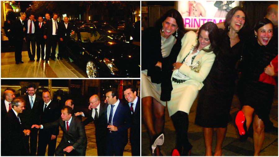 Empresários, deputados federais, secretários exibindo Ferrari na Champs-Élysées, e as esposas deslumbradas com os sapatos Loubotin.