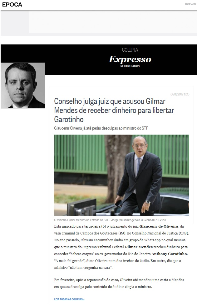 Reprodução Revista Época Online