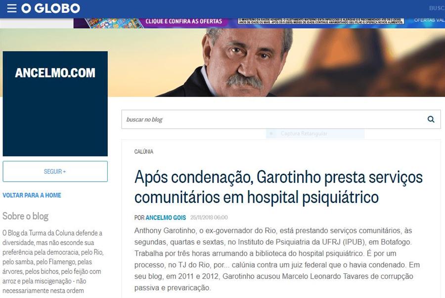 Reprodução do Blog Ancelmo.com